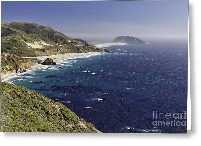Coastal Route Greeting Cards - Coastline at Point Sur Greeting Card by George Oze