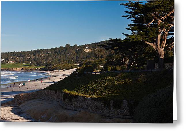 California Beach Greeting Cards - Coastline, Carmel Beach Greeting Card by Panoramic Images