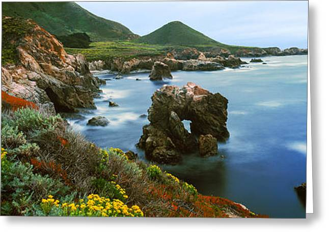 California Ocean Photography Greeting Cards - Coastline, Garrapata State Park Greeting Card by Panoramic Images