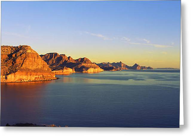 California Ocean Photography Greeting Cards - Coastline, Gulf Of California, Baja Greeting Card by Panoramic Images
