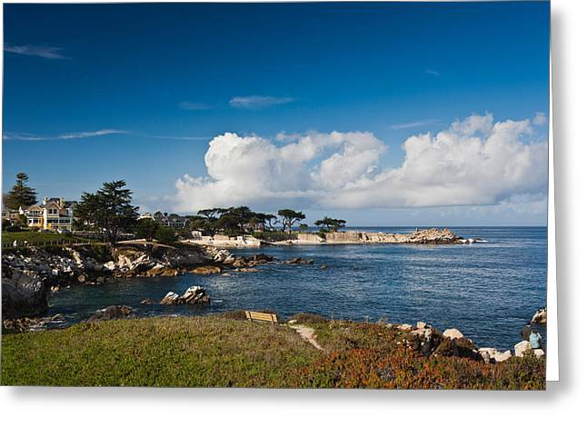 Monterey Greeting Cards - Coastline, Monterey Bay, Monterey Greeting Card by Panoramic Images