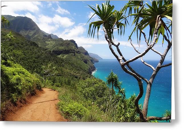 Paradise Road Greeting Cards - Coastline of Kauai  Greeting Card by Mountain Dreams