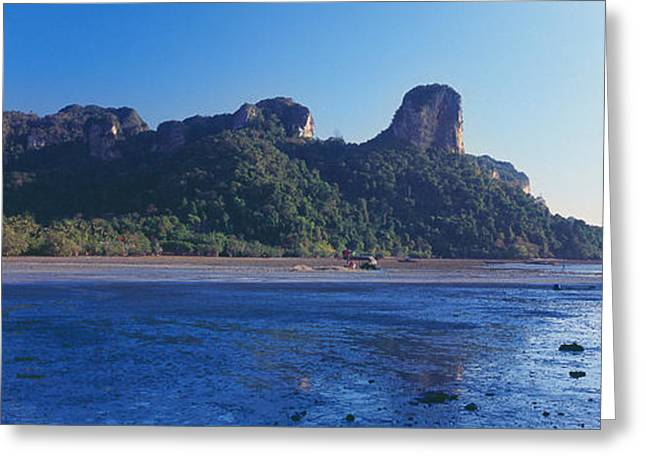 Beach Photography Greeting Cards - Coastline, Railay Beach, Krabi, Krabi Greeting Card by Panoramic Images