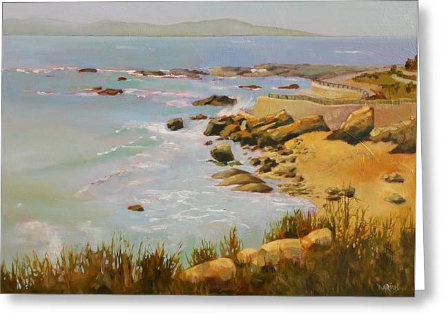Ocean Spray Greeting Cards - Coastline Greeting Card by Sue  Darius