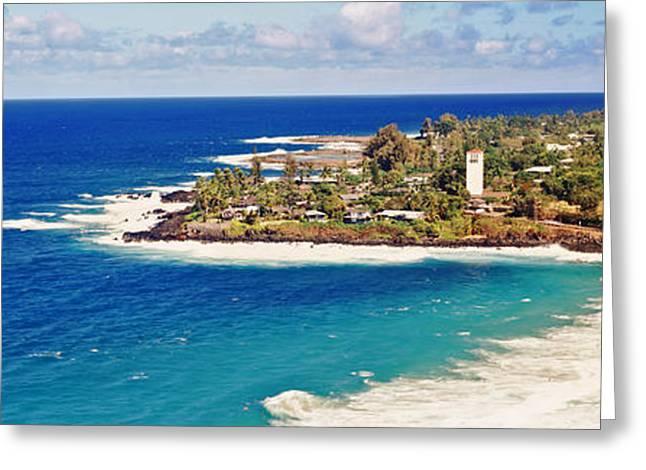 Ocean Photography Greeting Cards - Coastline, Waimea Bay, Oahu, Hawaii, Usa Greeting Card by Panoramic Images