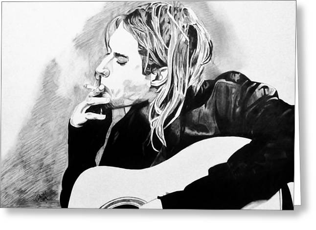 Cobain Greeting Card by Jeremy Moore