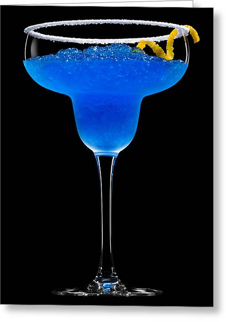 Sour Greeting Cards - Cobalt Cocktail Greeting Card by Ulrich Schade
