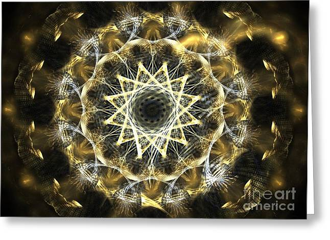 Fractal Orbs Greeting Cards - Cobalt Orb Greeting Card by Kim Sy Ok