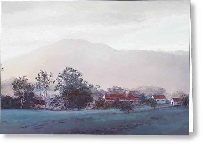 Country Cottage Greeting Cards - Cobargo at dusk Greeting Card by Jan Matson
