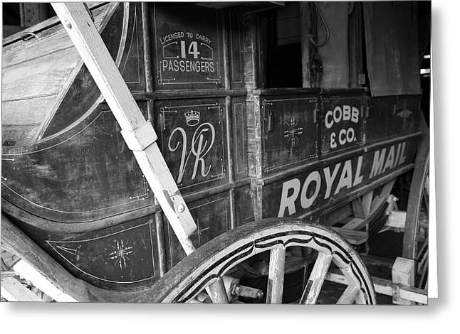 Cobbs Hill Greeting Cards - Cobb and Co Royal Mail Greeting Card by Ian  Ramsay