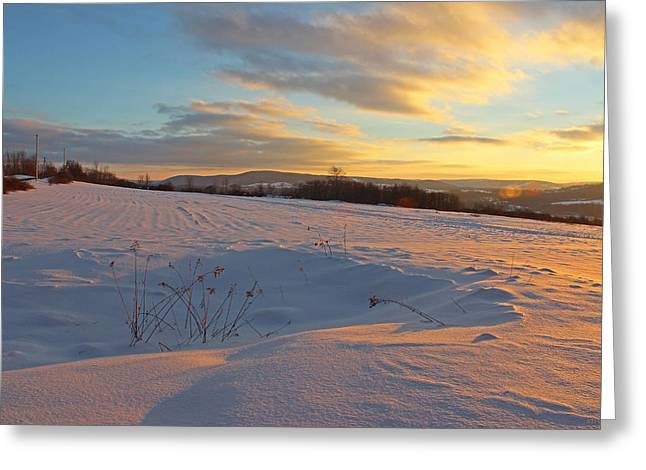 Cobbs Hill Greeting Cards - Cobb Hill Sunset-Cazenovia Greeting Card by John   Kennedy