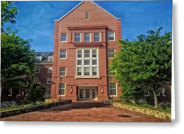 Cobbs Hill Greeting Cards - Cobb Residence Hall - University of North Carolina Greeting Card by Mountain Dreams