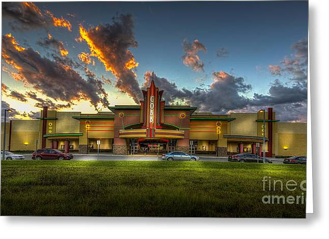 Thunder Cloud Greeting Cards - Cobb Theater Greeting Card by Marvin Spates
