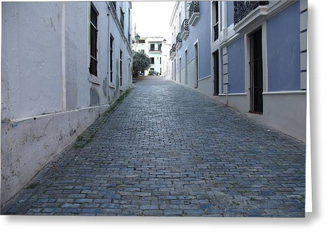 Old Street Greeting Cards - Cobble Street Greeting Card by David S Reynolds