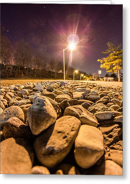 Constellations Greeting Cards - Cobbled path to light Greeting Card by Saurav Pandey