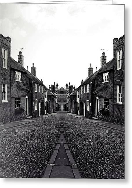 Old Street Greeting Cards - Cobbled streets Greeting Card by Sharon Lisa Clarke
