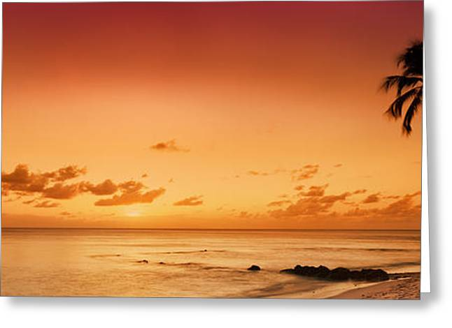 Ocean Panorama Greeting Cards - Cobblers Cove - Barbados Greeting Card by Rod McLean