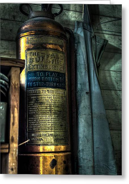 Shoe Repair Greeting Cards - Cobblers Fire Extinguisher Greeting Card by David Morefield