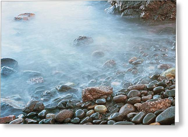 Cobblestones On The Beach, Las Rocas Greeting Card by Panoramic Images
