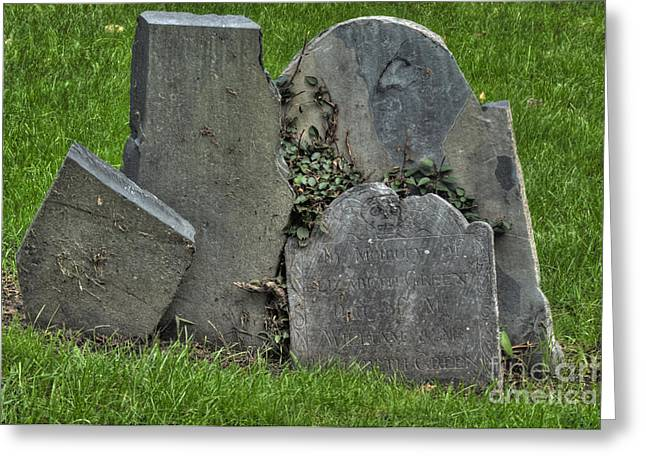 Cobbs Hill Greeting Cards - Cobbs Hill Burial Ground 3 Greeting Card by Deborah Smolinske