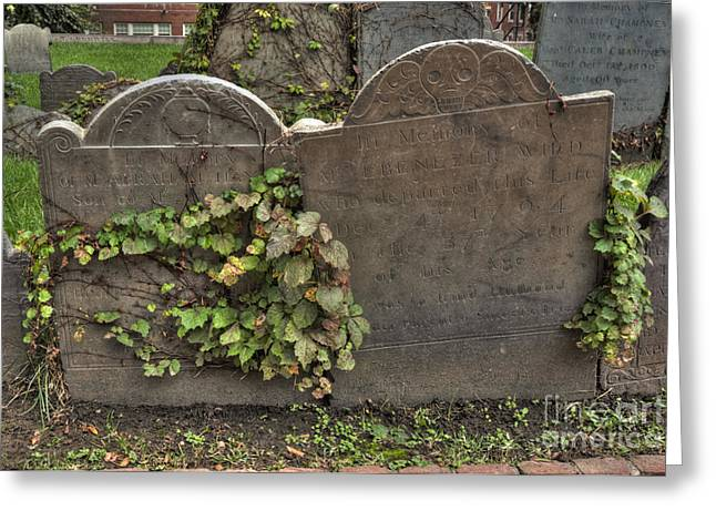 Cobbs Hill Greeting Cards - Cobbs Hill Burial Ground 5 Greeting Card by Deborah Smolinske