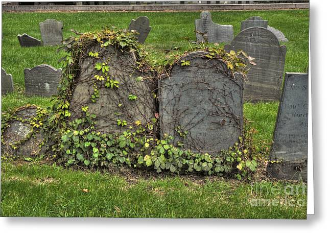 Cobbs Hill Greeting Cards - Cobbs Hill Burial Ground Greeting Card by Deborah Smolinske
