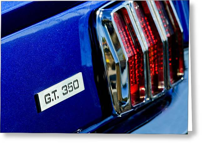Cobra Photographs Greeting Cards - Cobra GT 350 Taillight Emblem Greeting Card by Jill Reger