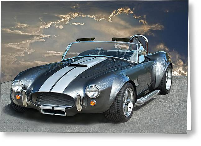 Best Sellers -  - Rally Greeting Cards - Cobra in the Clouds Greeting Card by Dave Koontz