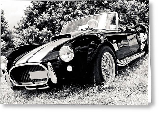 Custom Ford Greeting Cards - Cobra Sports Car Greeting Card by Phil