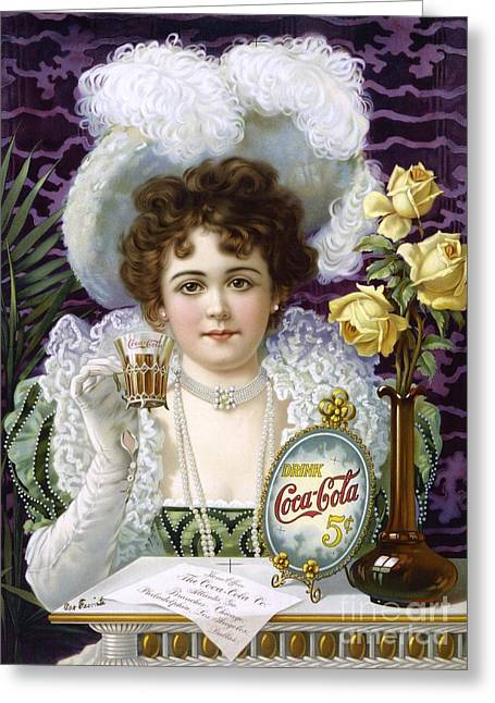 5 Cents Greeting Cards - Coca-cola Advert, 1890s Greeting Card by Library Of Congress