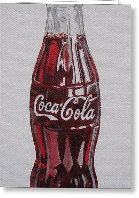 The Real Thing Greeting Cards - Coca-Cola Greeting Card by Alacoque Doyle
