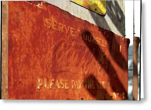 Glenn Mccarthy Greeting Cards - Coca Cola and Rust - Route 66 Greeting Card by Glenn McCarthy Art and Photography