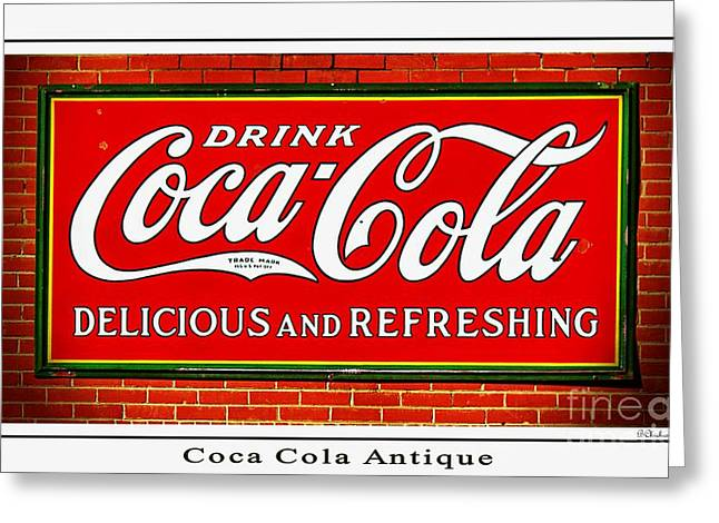 The Real Thing Greeting Cards - Coca Cola Antique Greeting Card by Barbara Chichester