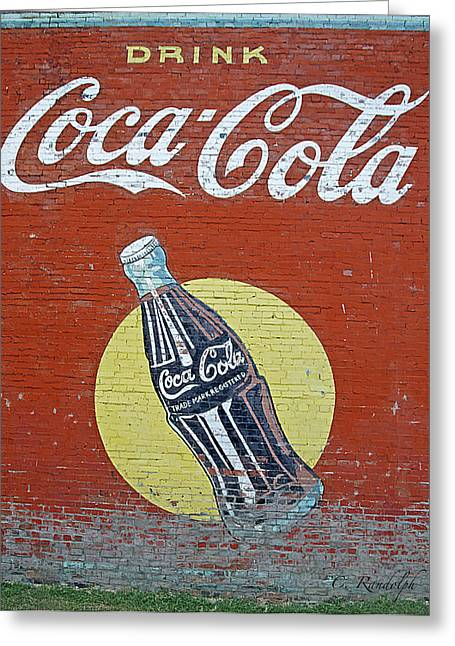 Cheri Randolph Greeting Cards - Coca-Cola Greeting Card by Cheri Randolph