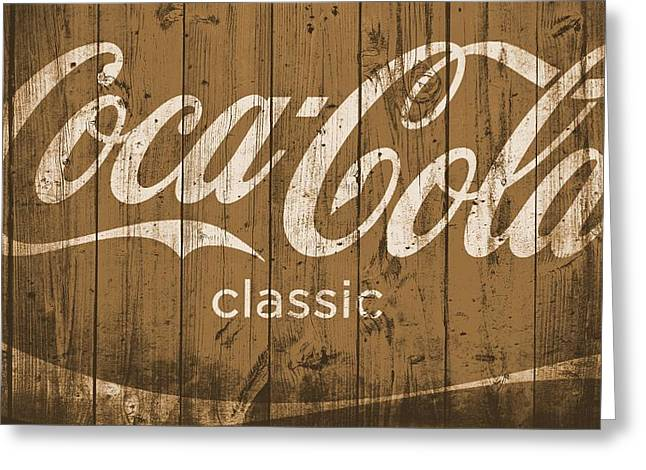 Classic Barn Greeting Cards - Coca Cola Classic Barn Greeting Card by Dan Sproul