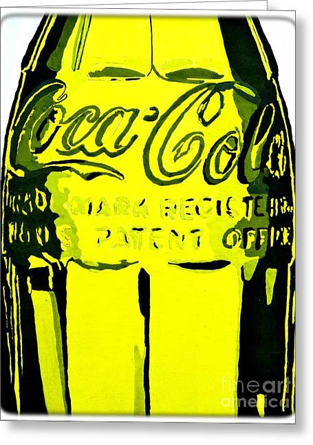 Street Pyrography Greeting Cards - Coca-Cola Coke  Greeting Card by Miryam  UrZa