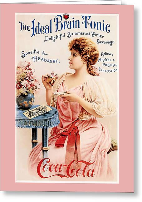 Pamela Phelps Greeting Cards - Coca-Cola Ideal Brain Tonic Greeting Card by Pamela Phelps