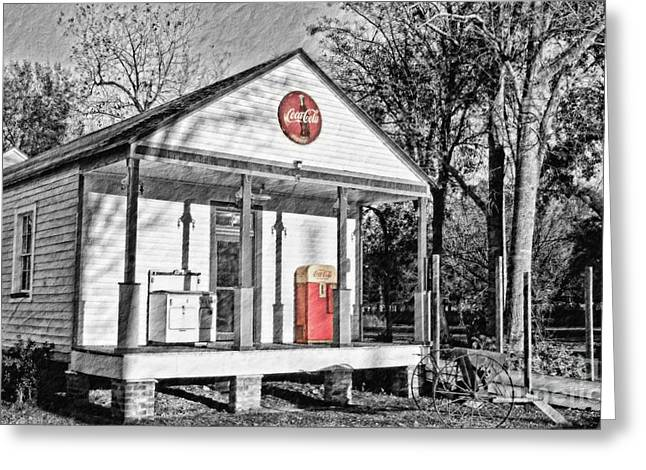 Historic Country Store Photographs Greeting Cards - Coca Cola in the Country Greeting Card by Scott Pellegrin