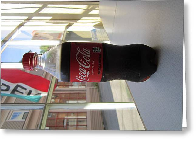 Coca Cola.coke-a-cola Greeting Cards - Coca Cola In The Summer Greeting Card by JS Matthew