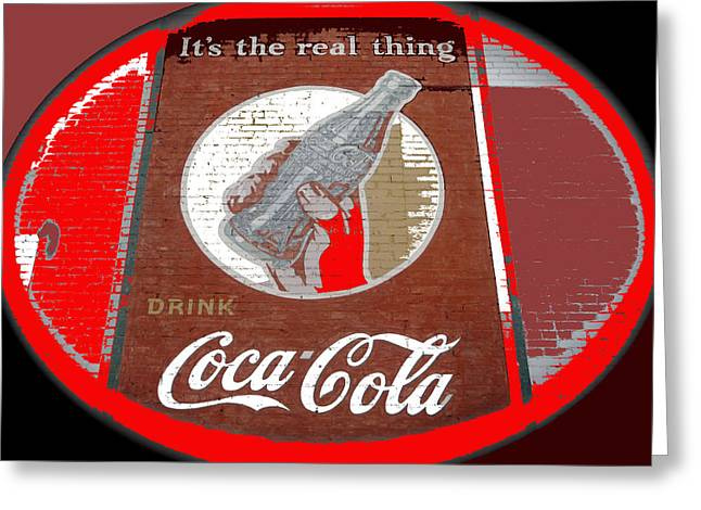 Coca-cola Mural Greeting Cards - Coca-Cola mural Billy Hathorn photo Minden Louisiana 1943-2014 Greeting Card by David Lee Guss