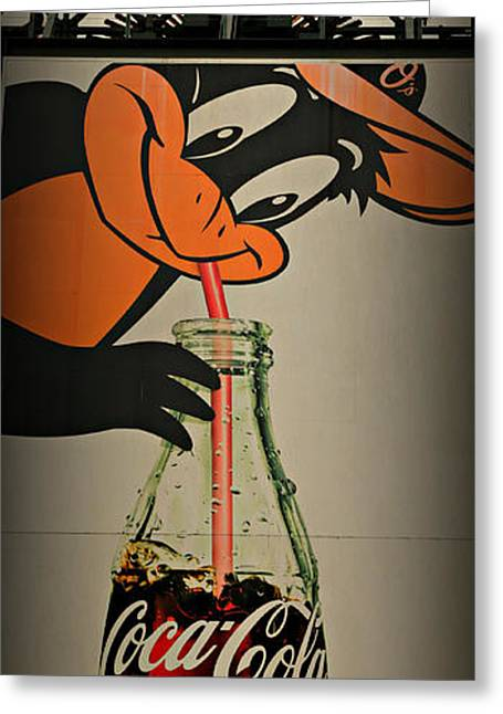 Coca Cola Orioles Sign Greeting Card by Stephen Stookey