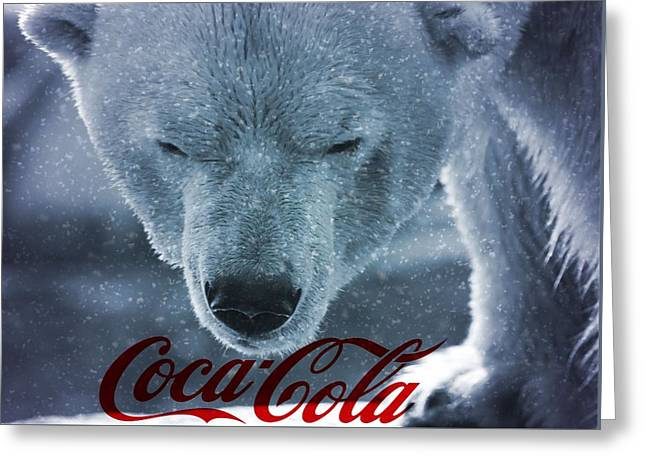 Coca Cola Polar Bear Greeting Card by Dan Sproul