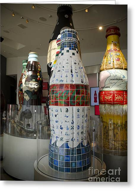 Coca Cola.coke-a-cola Greeting Cards - Coca-Cola Sculpture Greeting Card by Jessica Berlin