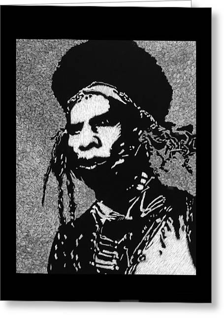 Patch Mixed Media Greeting Cards - Cochise Greeting Card by Trevor Garner