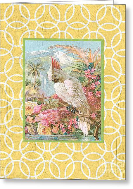 Floral Digital Art Digital Art Greeting Cards - Cockatiel Beauty-A Greeting Card by Jean Plout