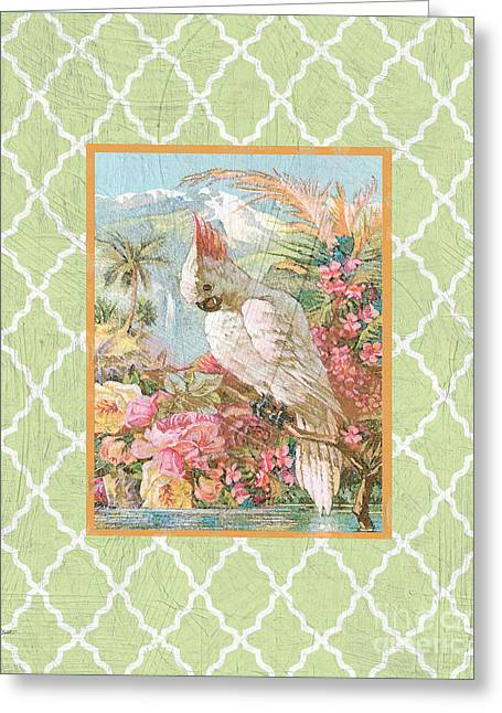 Floral Digital Art Digital Art Greeting Cards - Cockatiel Beauty-B Greeting Card by Jean Plout