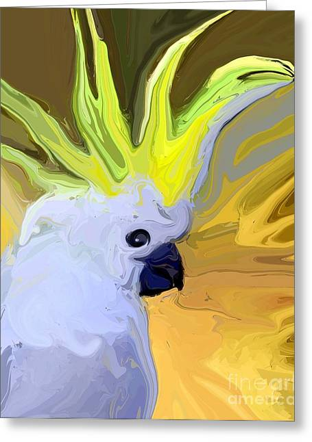 Cockatoo Greeting Card by Chris Butler