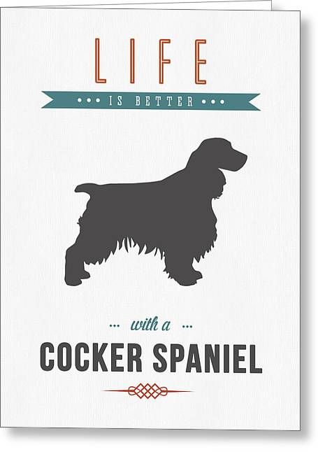 Spaniel Greeting Cards - Cocker Spaniel 01 Greeting Card by Aged Pixel
