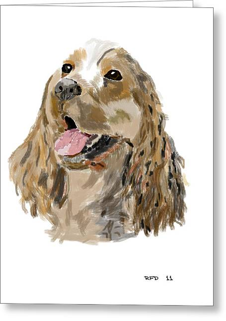 Owner Digital Greeting Cards - Cocker spaniel Greeting Card by Bob Donner