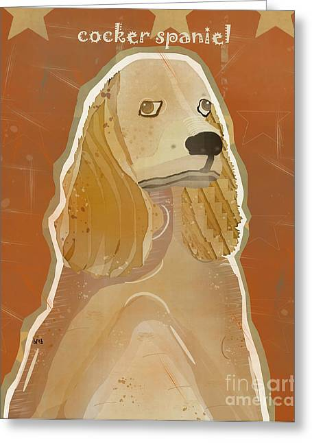 Portriats Greeting Cards - Cocker Spaniel Greeting Card by Bri Buckley